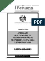 Ejemplo de Ordenanza Municipal