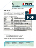 Spare Part & Maintenance Kit Sperre HL2-77