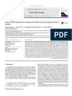 Fuzzy TOPSIS method for ranking renewable energy supply systems in Turkey