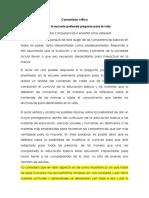 Comentario Crítico - Cuando La Escuela Pretende Preparar Para La Vida Desarrollar Competencias o Enseñar Otros Saberes - Philippe Perrenou