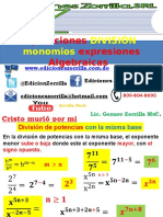 8 División de Monomios Expresiones Algebraicas
