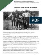 El Caucho, Un Auge Pagado Con La Vida de Miles de Indigenas [SERVINDI][2017!10!26]