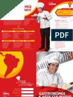 Brochure Gastronomia