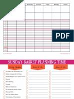 Sunday Basket Planning Time PrintableS
