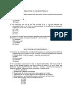 Reactivos Examen Final