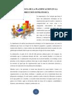 Importancia de La Planificacion en La Direccion Estrategica