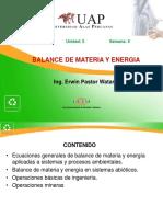 Balance de Materia y Energia - Semana 4
