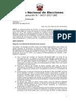 Resolución No 0417-2017 JNE - Vacancia José Bolo Bancayán