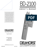 Delmhorst BD2100 User Manual