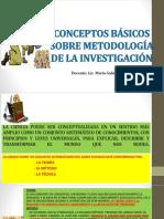 Conceptos Básicos Sobre Metodologái de La Investigación.