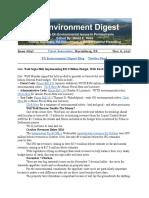 Pa Environment Digest Nov. 6, 2017