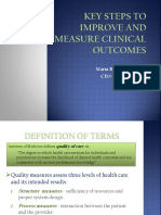 Key Steps to Improve and Measure Clinical Outcomes Ryan