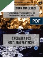 Yacimientos ortomagmaticos, segregación y neumatolíticos