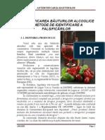 AUTENTIFICAREA BAUTURILOR ALCOOLICE