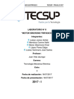 Lab. N° 8 Motor sincrono trifasico