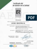 Catari Certificado Er.aenor