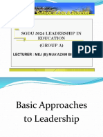 3.0 Basic Approaches to Leadership MZ 03