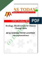 Iastoday Eco Env Quiz