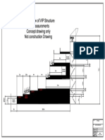 VIP Platform Temp Venue Section View With Measurements