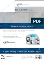 Access Control 101 for Pre Class Final