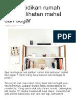 5 Cara Jadikan Rumah Anda Kelihatan Mahal Dan Segar
