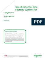 Design and Specification for Safe and Relianle Battery Systems for Large Ups