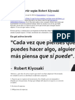En qué invertir según Robert Kiyosaki.docx