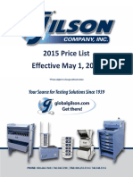 Gilson Pricelist 05012015