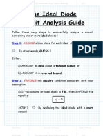 Ideal Diode Circuit Analysis Steps
