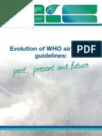 WHO Evolution Air Quality