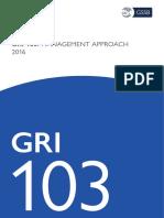 Gri 103 Management Approach 2016