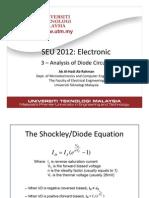 Diode circuit analysis