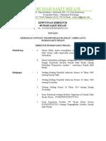 Sk Kebijakan Tentang Transportasi Ambulance