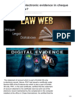 Lawweb.in-how to Prove Electronic Evidence in Cheque Dishonour Case