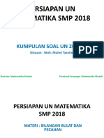 Kumpulan Soal Un 2014 - 2017 Persiapan Un Matematika Smp 2018