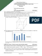 2016 - 2017 - Sesiunea Speciala (Olimpici) Evaluare Nationala Matematica Cls. a VIII a - Subuect Si Barem