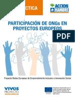 Accion Hambre Guia Participacion Ong en Proyectos Europeos