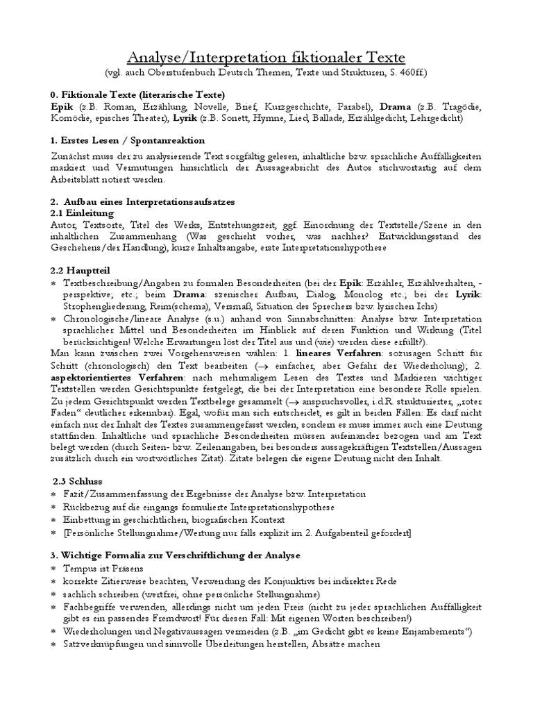 Tipps für Textanalyse Literarische Texte 3B3 3 A Anf PraLi WS 17-18