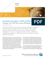 Examining the Impact of SEC Guidance Changes on CEO Succession Planning