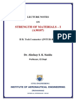 SM-I Lecture Notes