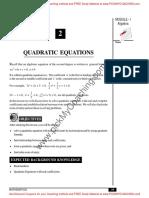 6 Quadratic Equations