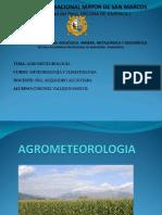 Agrometeorología CORONEL MAYCOL