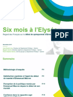 Six mois après la présidentielle, seuls 35% des Français se déclarent satisfaits de l'action d'Emmanuel Macron