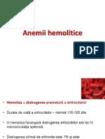 Anemii Hemolitice Aprilie 2017