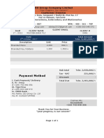 Mucoba Bank Invoice