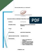 Auditoría Financiera y Rentabilidad en La Empresa Grupo Ortiz Huaraz