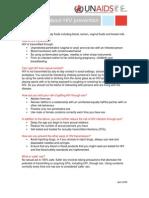 Fastfacts Prevention Hiv