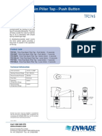 Time Flow Basin Pillar Tap - Push Button