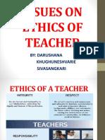 3. Issues on Ethics of Teachers