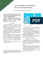 Comparativo Entre Redes de Automação Industrial e Suas Características